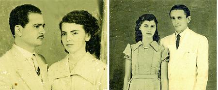 Os irmãos Francisco de Assis e Raimundo Nonato Costa com suas respectivas esposas:  Maria de Lourdes Coelho Costa e Maria Gomes Costa